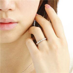 プラチナPt900 /1ctフルエタニティダイヤリング 指輪 ペアリング 15号 - 拡大画像