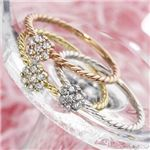 k18ダイヤリング 指輪 WG(ホワイトゴールド) 15号
