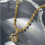 K18シャンパンダイヤモンドペンダント/ネックレス