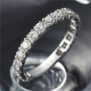 プラチナPt900 ダイヤリング 指輪 1ctエタニティリング 19号 (鑑別書付き)  - 拡大画像
