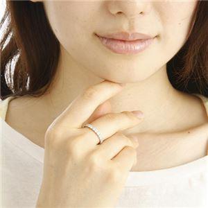 プラチナPt900 ダイヤリング 指輪 1ctエタニティリング 21号 (鑑別書付き)