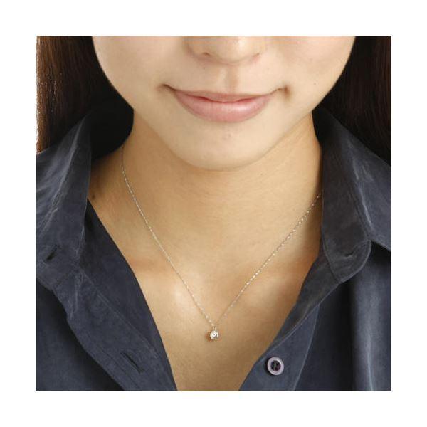 純プラチナ0.5ctダイヤモンドペンダント/ネックレス (鑑別書付き)1