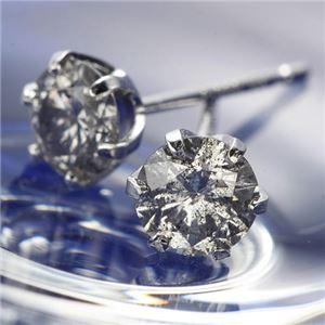 PT0.6ctダイヤモンドピアス プラチナ(鑑別書付き) - 拡大画像