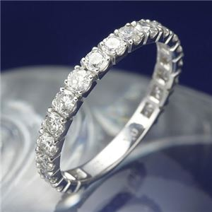 プラチナPt900 1.0ctダイヤリング 指輪 エタニティリング 13号 - 拡大画像