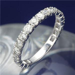 プラチナPt900 1.0ctダイヤリング 指輪 エタニティリング 15号 - 拡大画像