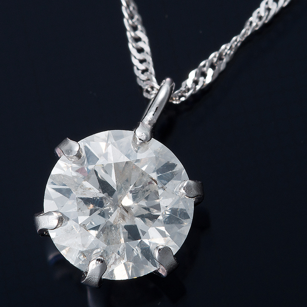 純プラチナ 0.5ctダイヤモンドペンダント/ネックレス スクリューチェーンのポイント5
