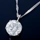 純プラチナ 0.7ctダイヤモンドペンダント/ネックレス スクリューチェーン - 縮小画像1