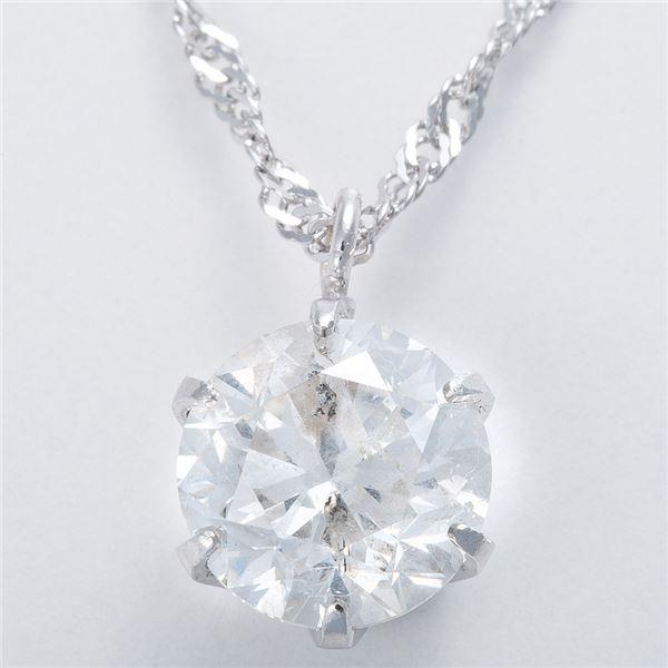 純プラチナ 1ctダイヤモンドペンダント/ネックレス スクリューチェーンのポイント2
