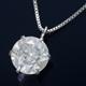 純プラチナ 1ctダイヤモンドペンダント/ネックレス ベネチアンチェーン - 縮小画像1