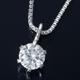 純プラチナ 0.1ctダイヤモンドペンダント/ネックレス ベネチアンチェーン(鑑別書付き) - 縮小画像1