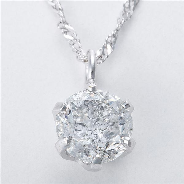 純プラチナ 0.3ctダイヤモンドペンダント/ネックレス スクリューチェーン(鑑定書付き)1