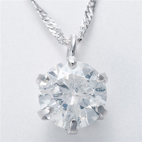 純プラチナ 0.5ctダイヤモンドペンダント/ネックレス スクリューチェーン(鑑定書付き)2