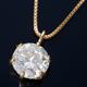 K18 0.5ctダイヤモンドペンダント/ネックレス ベネチアンチェーン(鑑別書付き) - 縮小画像1