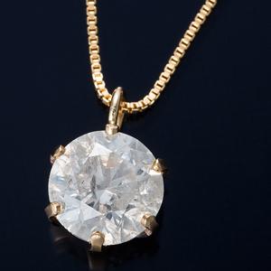 K18 0.7ctダイヤモンドペンダント/ネックレス ベネチアンチェーン(鑑定書付き) - 拡大画像