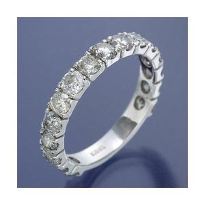 K18WG ダイヤリング 指輪 2ctエタニティリング 16号 - 拡大画像