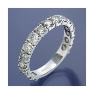 K18WG ダイヤリング 指輪 2ctエタニティリング 14号 - 拡大画像