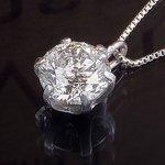 プラチナPT999 0.5ctダイヤモンドペンダント/ネックレス (鑑別書付き)