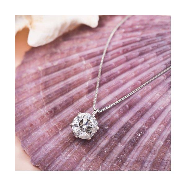 プラチナPT999 1ctダイヤモンドペンダント/ネックレス (鑑別書付き)のポイント1