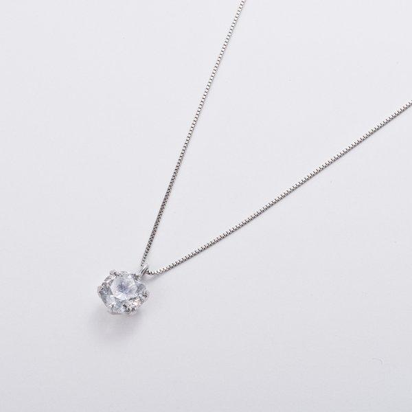 プラチナPT999 1ctダイヤモンドペンダント/ネックレス (鑑別書付き)のポイント2