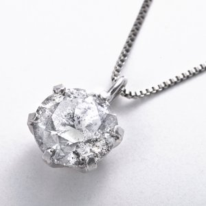 プラチナPT999 1ctダイヤモンドペンダント/ネックレス (鑑別書付き) - 拡大画像