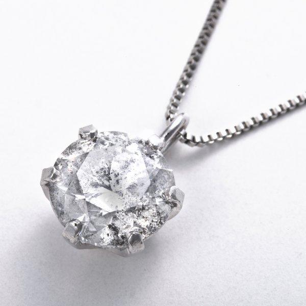 プラチナPT999 1ctダイヤモンドペンダント/ネックレス (鑑別書付き)のポイント3
