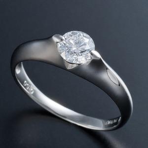 プラチナPt900 0.5ct Dカラー・IFクラス・EXカットダイヤリング 指輪(GIA鑑定書付き) 19号 - 拡大画像