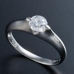 プラチナPt900 0.5ct Dカラー・IFクラス・EXカットダイヤリング 指輪(GIA鑑定書付き) 19号