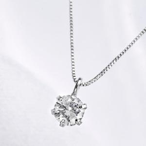 純プラチナ台 0.2ctダイヤモンドペンダント/ネックレス - 拡大画像