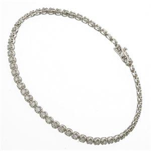 1ctダイヤモンドテニスブレスレット シルバーカラー - 拡大画像