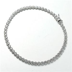 ダイヤモンド1CTテニスブレスレット - 拡大画像