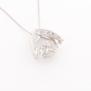 ダンシングストーン 1.2ctダイヤモンドペンダント/ネックレス (鑑別書付き) - 拡大画像