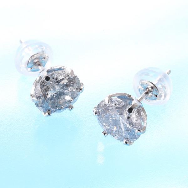 PT900 2.0ctダイヤモンドピアス(鑑別書付き) プラチナ