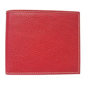 SCHEDONI(スケドーニ) 2つ折り財布 SL050M レッド系 - 拡大画像