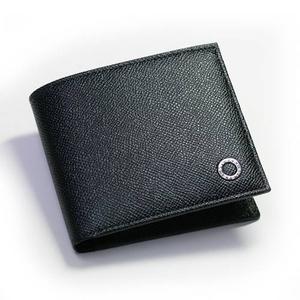 BVLGARI(ブルガリ) グレインレザー 二つ折り財布小銭入れ付き 30396 ブラック - 拡大画像