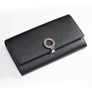 BVLGARI(ブルガリ) ロゴクリップ 長財布小銭入れ付き 30414 ブラック - 拡大画像