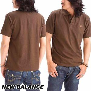 NEW BALANCE(ニューバランス) 無地ポロシャツ AMTZ6488 MOCHA L(日本サイズLL) - 拡大画像