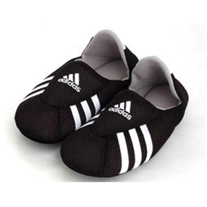 adidas(アディダス) ロッカールームソックス ブラック×ホワイト25-27cm - 拡大画像