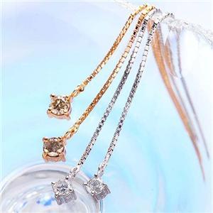 ダイヤモンドアメリカンピアス ホワイトゴールド - 拡大画像