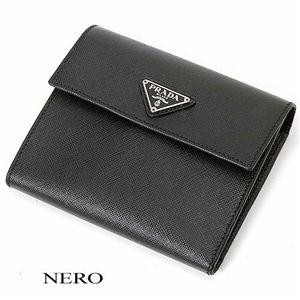 PRADA(プラダ) 三折財布 1M0170 SAF NERO - 拡大画像