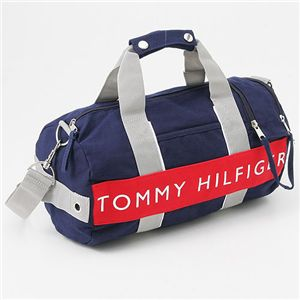 TOMMY HILFIGER(トミーヒルフィガー) ミニボストンバッグ L500079 MINI DUFFLE ハーバーポイント2 Navy×Red - 拡大画像