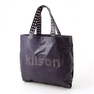 kitson(キットソン) トートバッグ GROMMET TOTE 3988・パープル - 拡大画像