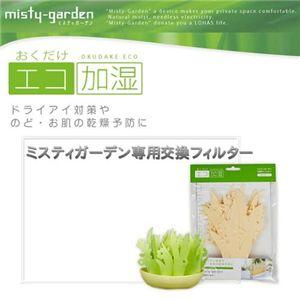 エコ加湿器「ミスティガーデン」 専用フィルター【2個組】(グリーン&ナチュラルカラー) - 拡大画像