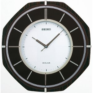 SEIKO CLOCK(セイコークロック) 電波ソーラー壁掛け時計 SF502B - 拡大画像