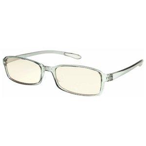 スイートアイ メラニンレンズ 度付きPC眼鏡 SE01 Smoke スモーク グレー 灰色 +0.50 - 拡大画像