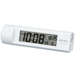 SEIKO CLOCK(セイコークロック) デジタル 電波置き時計 SQ765W ホワイト  - 拡大画像
