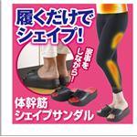 洗える体幹筋シェイプサンダル L(23.5〜24.5cm)