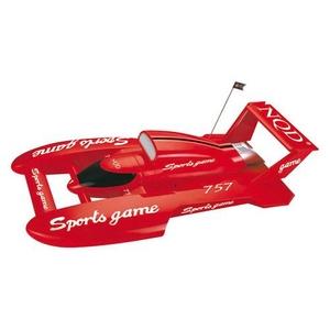 水上ラジコン Sports game 小型コンパクト設計 レッド - 拡大画像