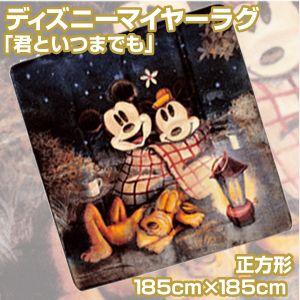 ディズニーマイヤーラグ 「君といつまでも」正方形185cm×185cm - 拡大画像