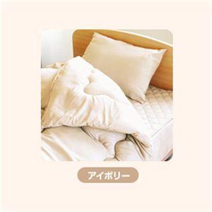 ピーチスキン加工 寝具3点 シングル【ベッド用】 アイボリー - 拡大画像