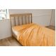 ふっくらマシュマロタッチ マイクロファイバー毛布&敷きパッドセット シングル オレンジ - 縮小画像2
